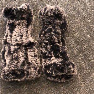Accessories - Never worn rabbit grey fingerless hand warmers